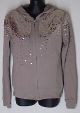 SMALL Victoria's Secret Plush & Lush Terry Hoodie Zip Jacket Candlelight Rose