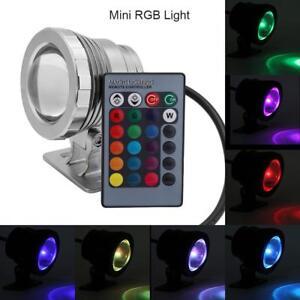 Faretto Faro LED RGB Luce Lampada Subacqueo Piscina Fontana Stagno Impermeabile