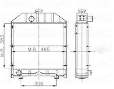RADIATORE TRATTORE FIAT 465 / 55-65 / 50-66 / 55-75 / 45-76 / 80-76 RAME!