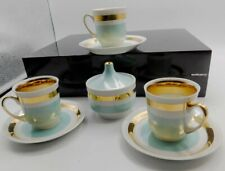 VINTAGE Mid Century Modern CMIELOW Made in Poland PORCELAIN COFFEE SET Signed