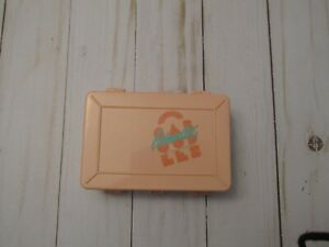 L Vtg Caboodles Peach Small Double Sided Makeup Cosmetic/Jewelry Organizer Case