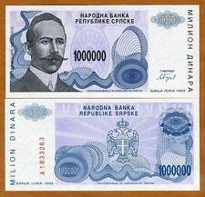 Bosnia, 1,000,000 (1000000) Dinara, 1993, P-152, UNC