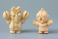 "Vintage Tsuburaya SD Ultraman Kaiju BALTAN & ULTRAMAN 1"" Figures   Free S&H !"