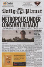 2013 Daily Planet Superman Henry Cavill Promo Newspaper Norton / Walmart