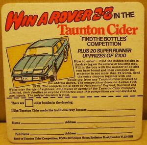Old Taunton Cider Pub drinks mat