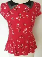 Scoop Neck Floral Waist Length Tops & Shirts Size Petite for Women