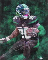 Autographed/Signed LE'VEON LEVEON BELL New York Jets 16x20 Photo PSA/DNA COA