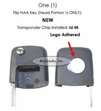 Uncut flip key head- VW transponder chip keyless remote clicker replacement OEM