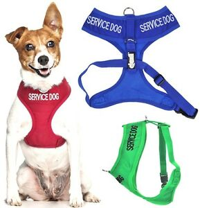 SERVICE DOG Vest Harness Non Pull Front Back Ring Padded Waterproof EX S M L New