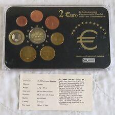 Allemagne 2007 COMMEMORATIVE 2 EURO en 8 pour pièces de monnaie Euro type Set-Pack/COA