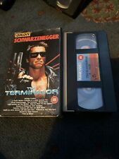 The Terminator .Arnold Schwarzenegger 1984 first release on orion vhs very rare