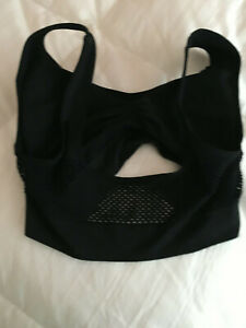 Sports bra permeable cooling wireless Black Sz M