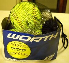 "Lot Of 3 Worth 12"" Official League Softballs Unsold Surplus Store Items"