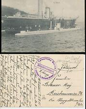 Unterseeboot  U-boot vor  Wohnschiff  Kaiserliche Marine  Militaria  WW1 1915 -R