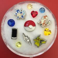 Floating Charm Set~*~POKEMON Bolt Pikachu Bulbasaur Charmander~*~Living Lockets