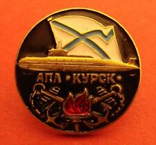 Russian Navy Kursk K-141 Nuclear Submarine Disaster Memorial Badge Brass Enamel