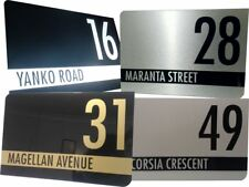 Custom Aluminum  House Address Signs, Style, Colour and Size options!