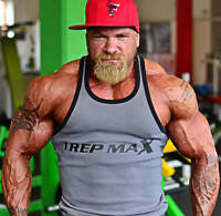 Ribbed Bodybuilding Vest Grey by 1 Rep Max Gym Clothing