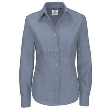B&C Collection Womens Fashion Oxford Long Sleeve Shirt