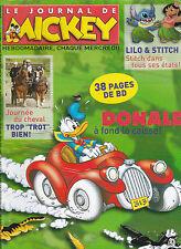 LE JOURNAL DE MICKEY septembre 2005  ;  LILO ET STITCH 2 . PARKER ET BADGER