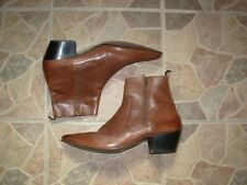 Vintage brown leather cowboy style boots by SoSo  12 uk 46  eu