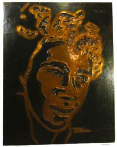 Trixie Smith US Blues Jazz Singer Copper Relief Wall Hanging Picture 45 x 35 cm