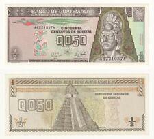 GUATEMALA ½ Half Quetzal Banknote (1989) P.72a - UNC