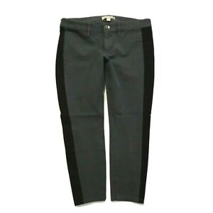 Banana Republic Sloan pants Gray black tuxedo stripe Capri womens 6P 6 Petite