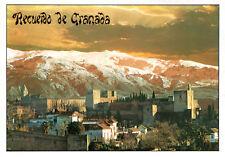Espana - Granada  -  Vista general de Alhambra y Sierra Nevada - Town Castle