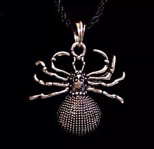 "Spider Necklace Guy Fashion Personality Metal Pendant Necklace 17""-21"" NIB"