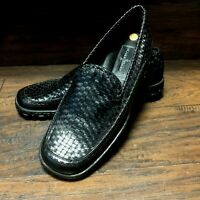 NEW Cole Haan F9428 Womens Black Leather Slip On Basket Weave Loafers Shoes 7 B