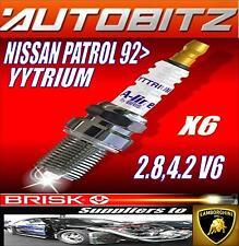 Convient nissan patrol 2.8, 4.2 V6 1992 > brisk bougies X6 YYTRIUM envoi rapide