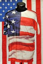 Get A Life LG Sewn American Flag USA Independence Day 4th July Tee T Shirt EUC