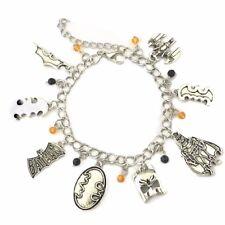 Batman Theme Silvertone Metal Charm Bracelet