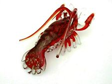 MASSIVE 45cm Murano Art Glass Lobster Sculpture Red Amber Copper Avventurine