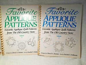 2 Quilt Books w/Patterns- 26 Favorite Appliques Patterns-Vol.2 & 3