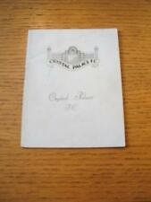 17/03/1965 Crystal Palace v Preston North End  (Slight Creased). No obvious faul