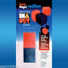 In N' Out Boxes and Inner Outer Box Magic Tricks Toy Pocket Beginner Puzzle Joke
