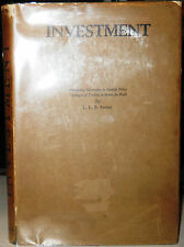 INVESTMENT L L B Angas 1930 1st Edition Macmillan and Co Hardcover w/dust jacket