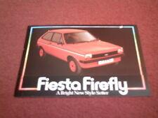 1980 Ford Fiesta Firefly 950 y 1.1 edición especial-Reino Unido Folleto FA370