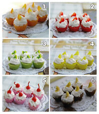 Dollhouse miniature 6 PCs.of Miniature Cupcake  smallest size 0.7 cm. diameter