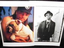 2 photo postcards Ice-T 1991 1996 rap musician actor