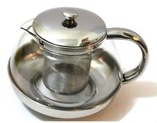 600ml Stainless Steel Modern CoffeeTeapot with filter heat resistant glass