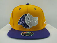 LOS ANGELES LAKERS NBA SNAPBACK HAT CAP ADJ NEW YELLOW BY ADIDAS