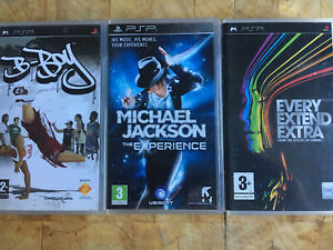B-Boy / Every Extend Extra / Michael Jackson Sony PSP PlayStation Game Complete