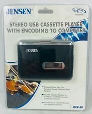 Jensen Stereo Usb Cassette Player With Encoding To Computer Mp3 Jscr-50
