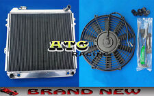 For TOYOTA TRUCK PICKUP 4 RUNNER 3.0L 1988-1995 3 Row Aluminum Radiator + Fan
