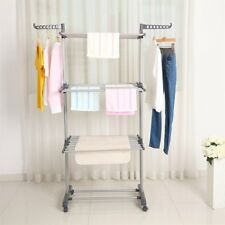 Extra Foldable Large Clothes Airer 3 Tier Indoor Outdoor Laundry Dryer Rack Line