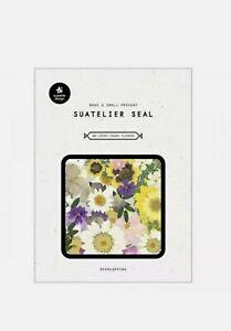 Suatelier Seal Dear Flower Sticker Decoration Korean import