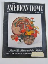 The American Home Magazine- August 1954-MCM decor funiture color photos plans